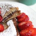 Chocolate filled french toast with strawberries