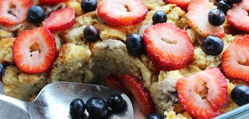 Berry Simple French Toast Bake