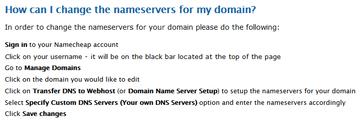 Nameserver Information