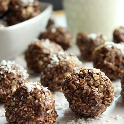 Healthy Nutella Energy Bites