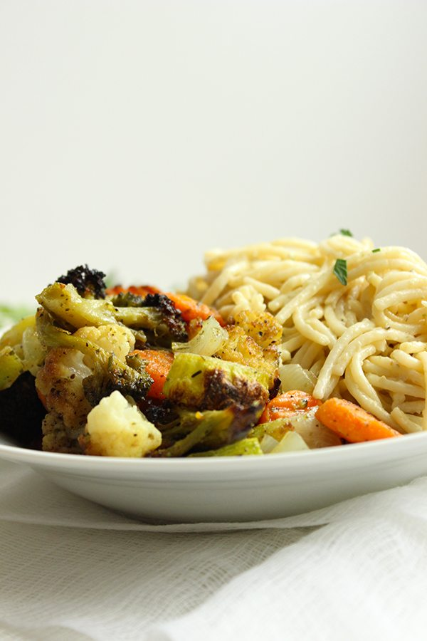 Roasted Veggie Alfredo 3