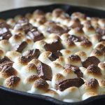 Easy Baked Smores Dip with Hershey Bars