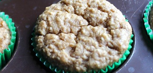 Healthy Peanut Butter Banana Oat Muffins