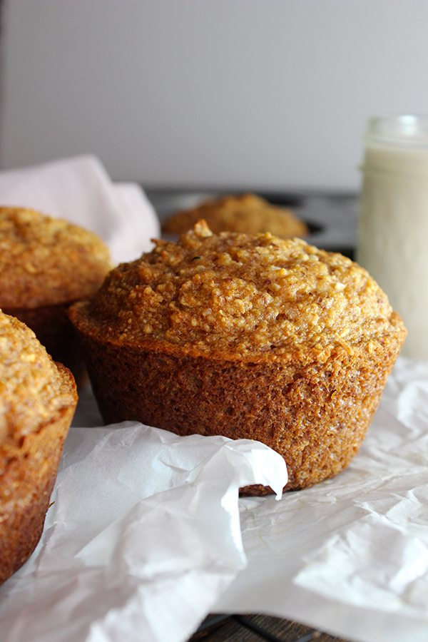 Jumbo Coconut Oil Zucchini Muffins--YUMMY!!! so Delicious!