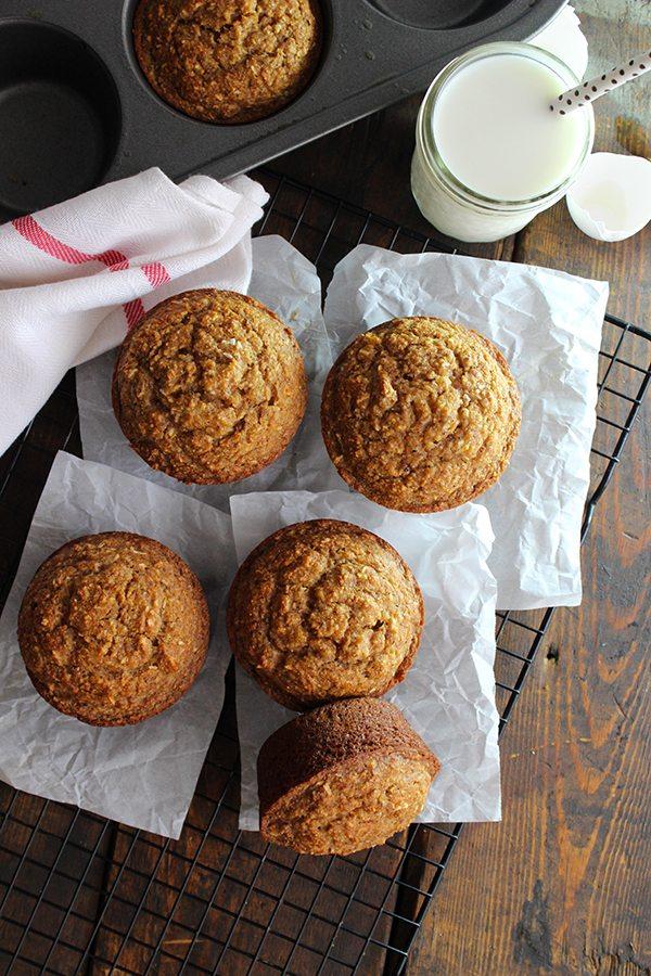 Jumbo Coconut Oil Zucchini Muffins--YUMMY!