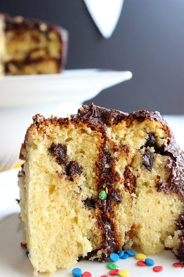 Chocolate Chip Birthday Cake |simplegreenmoms.com