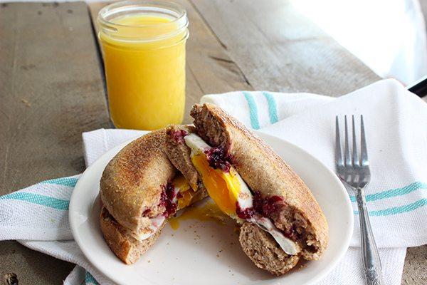 Peanut Butter and Jelly Breakfast Bagel - YUM!!