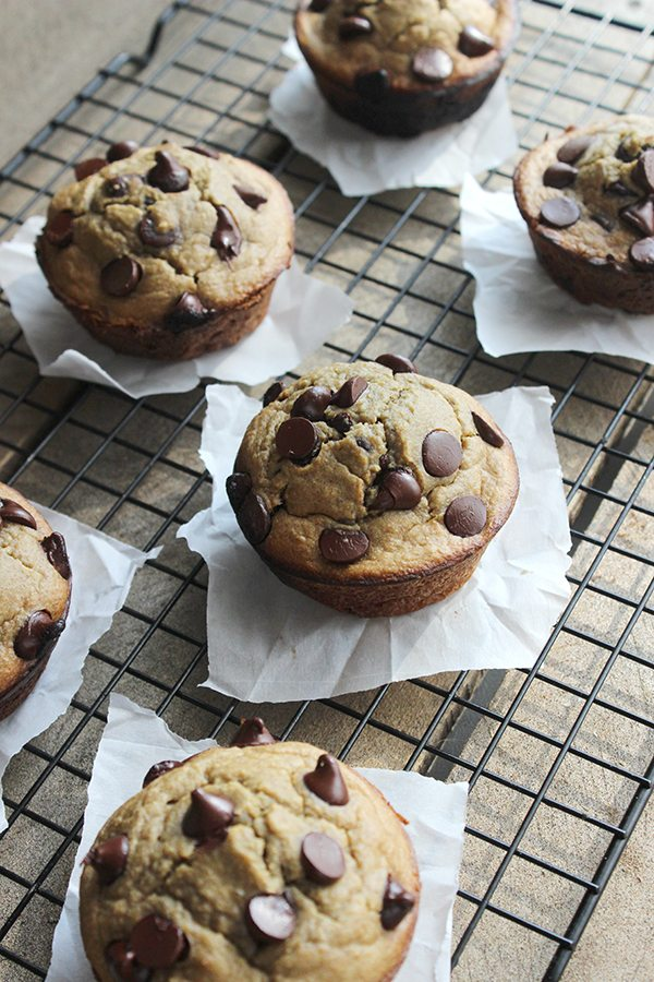 Healthy Chocolate Chip Cookie Muffin - The BEST!