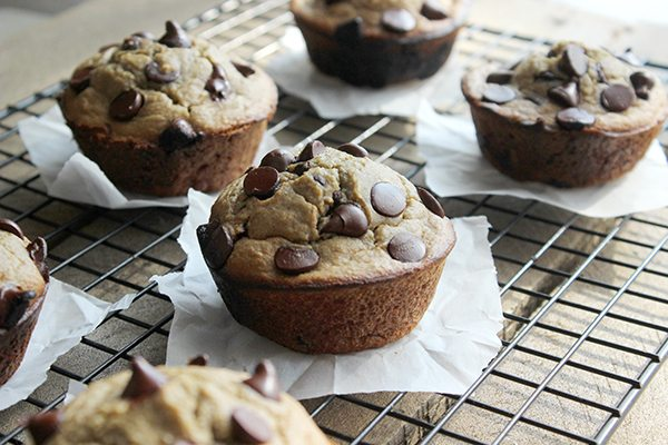 Healthy Chocolate Chip Cookie Muffin - The BEST