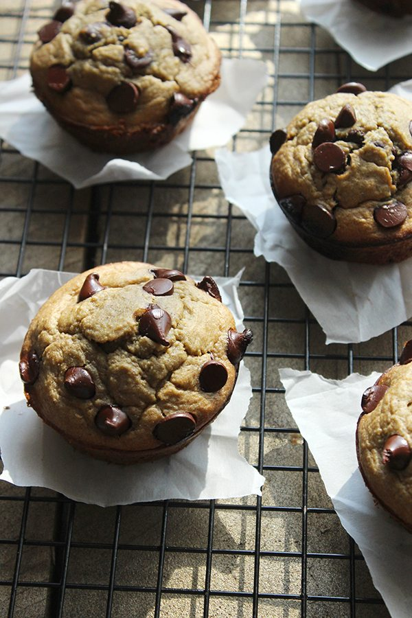 Healthy Chocolate Chip Cookie Muffin
