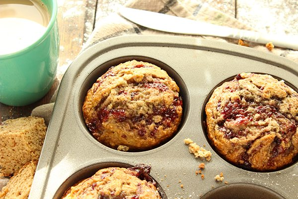 Peanut Butter and Jelly Muffins 2
