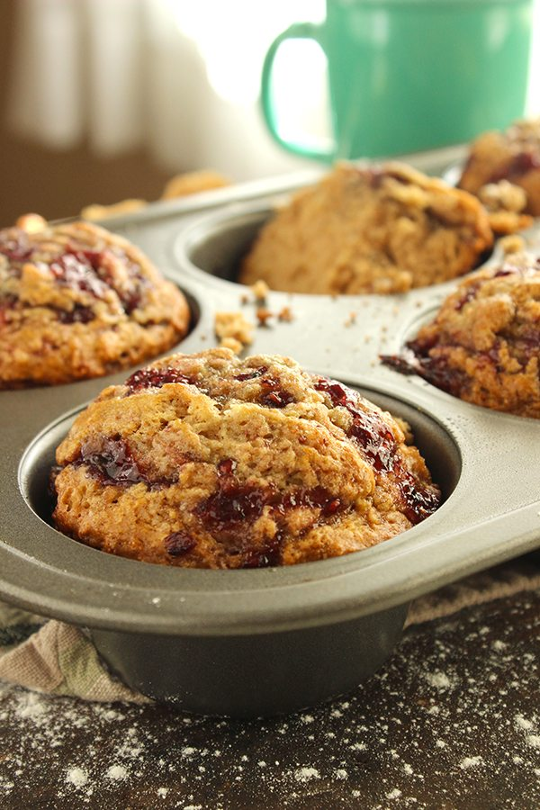 Peanut Butter and Jelly Muffins 3