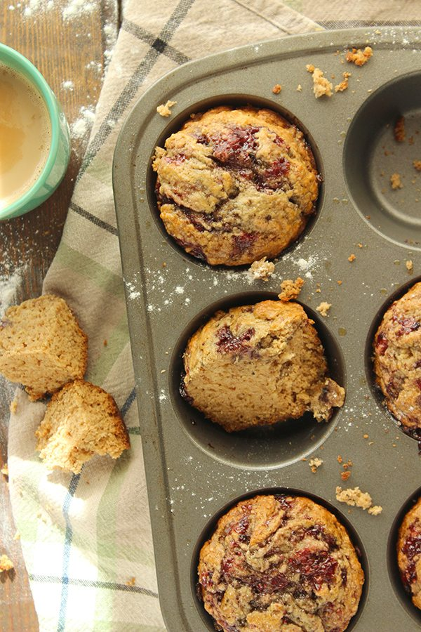 Peanut Butter and Jelly Muffins 4