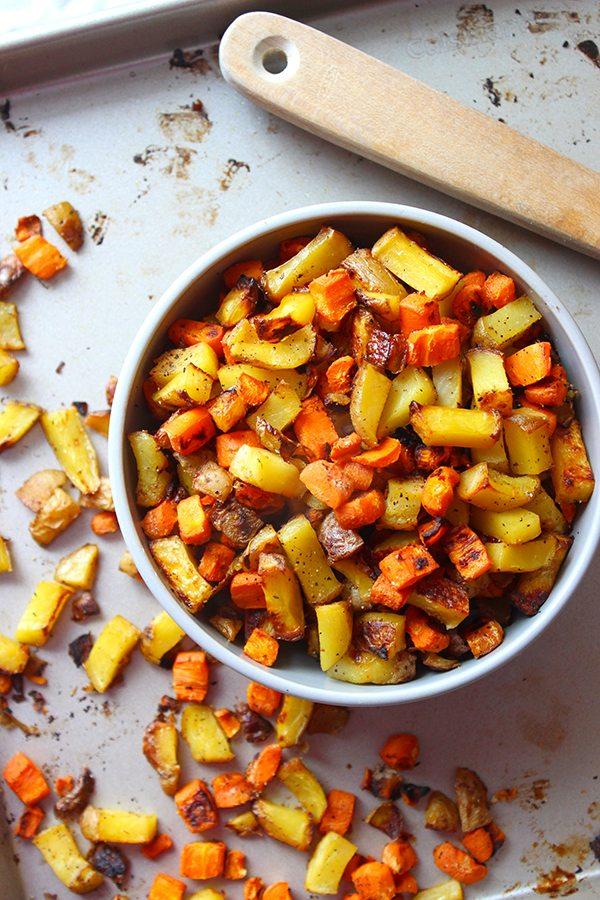 Roasted Carrots and Potatoes 3