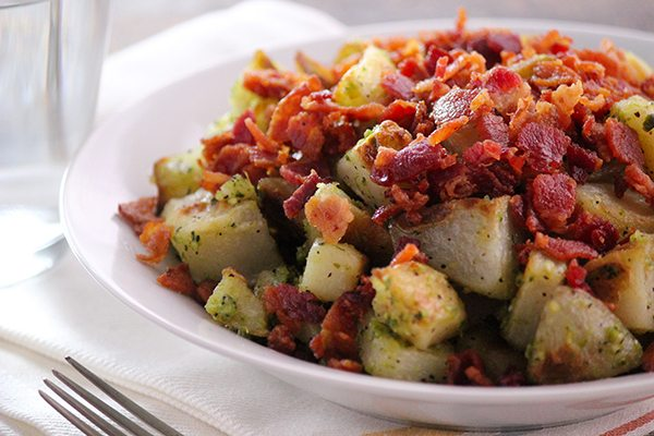 Pesto Potatoes - Yumm