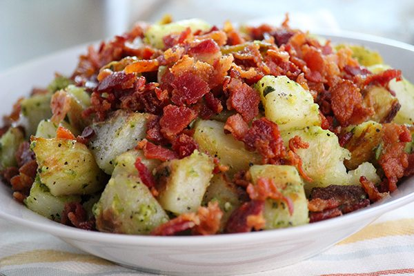 Pesto Potatoes with Bacon - Paleo