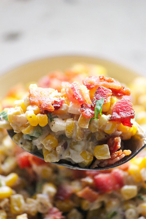 Healthy Bacon + Corn Dip