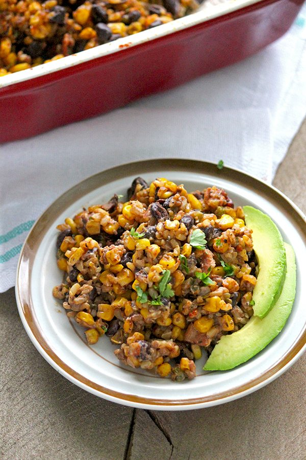 Healthy Black Bean Casserole