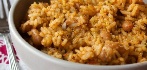 Puerto Rican Rice + Beans