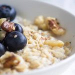 Oatmeal and blueberry breakfast