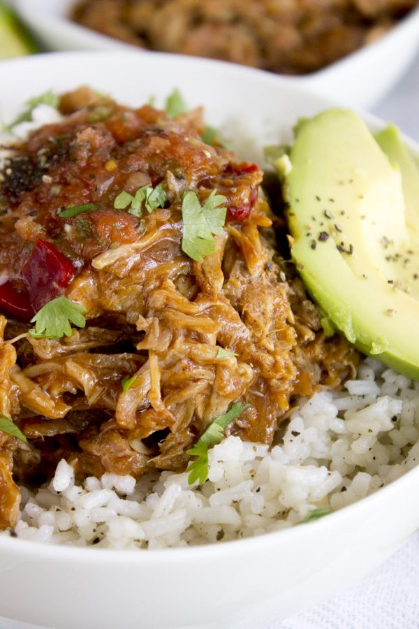 Slow Cooker Apple Bourbon Pulled Pork | Simple Green Moms
