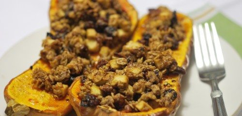 Simple Stuffed Butternut Squash