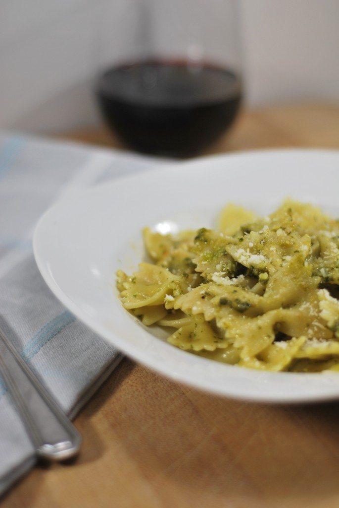 Pesto Bowtie Pasta Dish