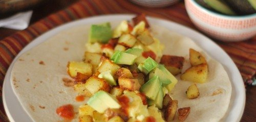 Simple Breakfast Burritos