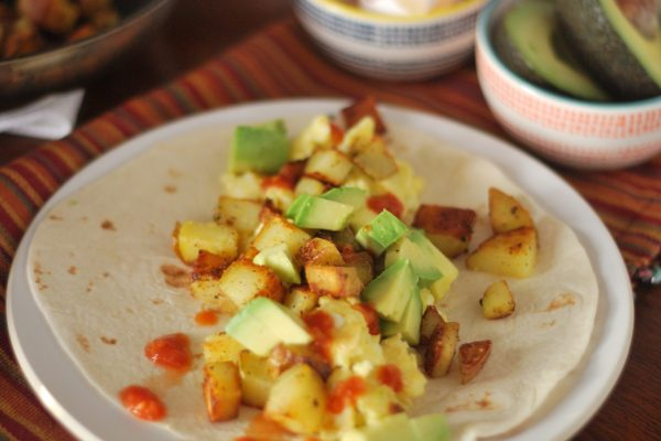 Simple Breakfast Burritos