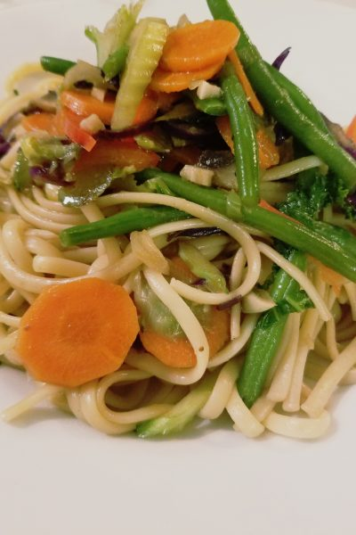 Week Night Veggie Lo Mein