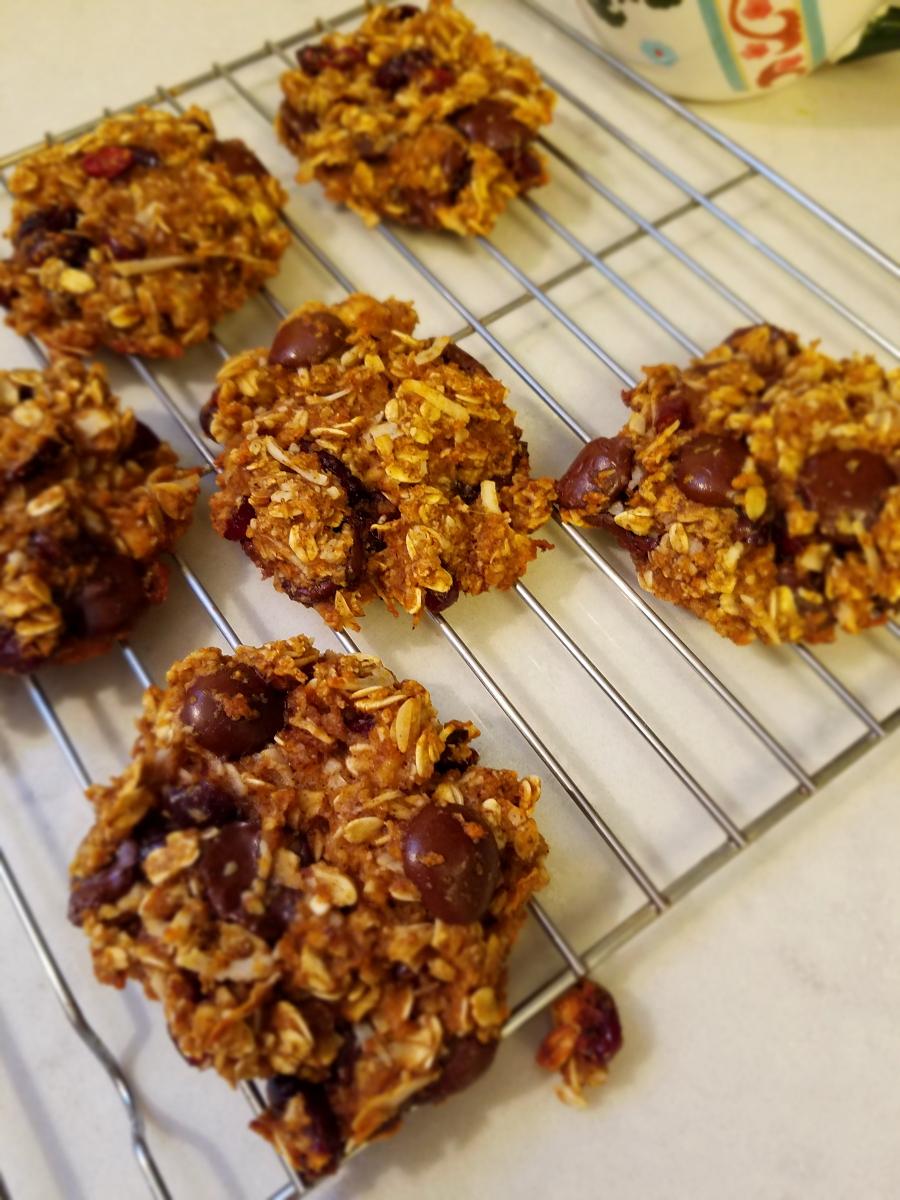 craisin chocolate breakfast cookies