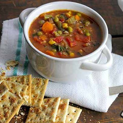 Thick + Hearty Vegetable Soup Recipe
