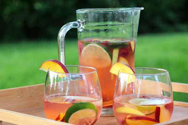 Simple Summer Sangria Cocktail