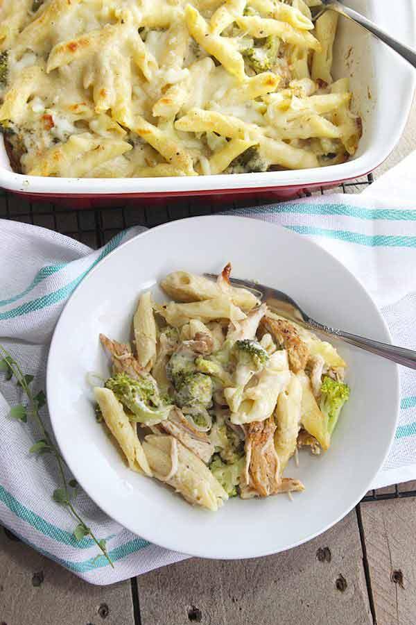 Chicken Broccoli Alfredo Lasagna