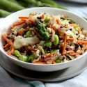 Stir fry veggies and rice
