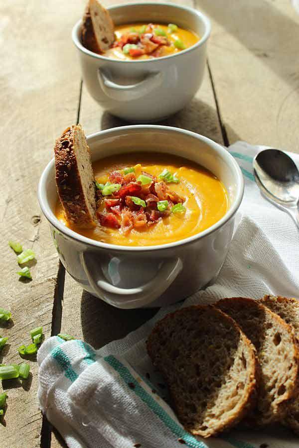 Healthy Paleo Style Butternut Squash Soup