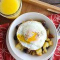 Hashbrown and Egg stir fry
