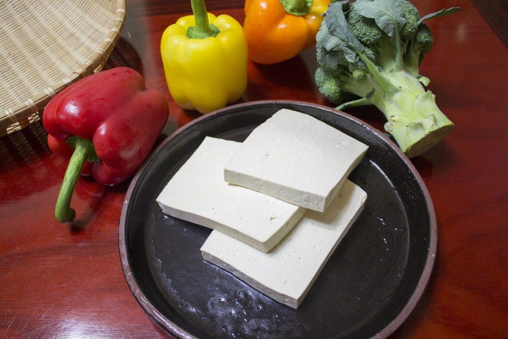 tofu slices on plate