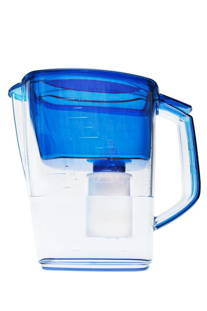 best pitcher water filter isolated against white background