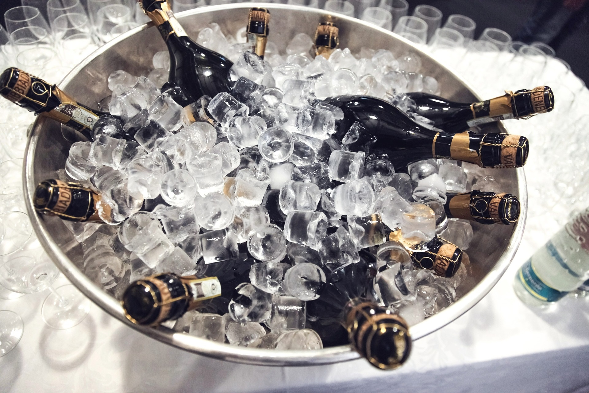 champagne with in in bucket