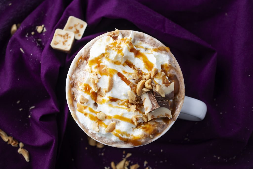Upclose salted caramel hot chocolate