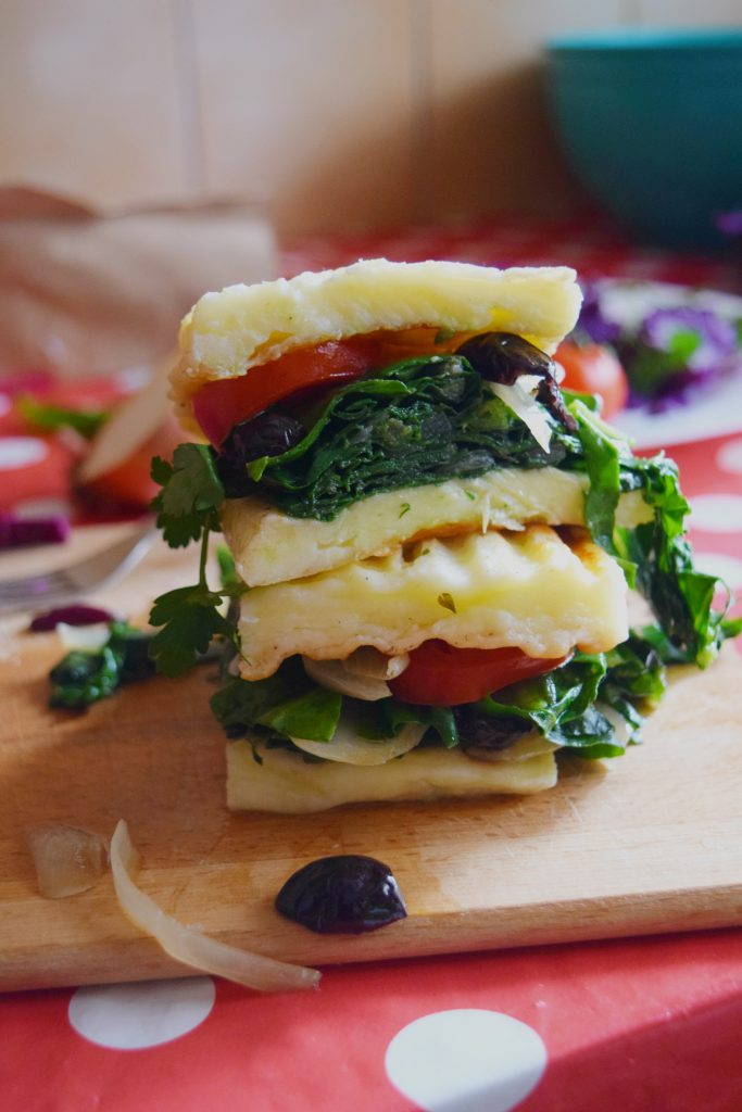 Vegetarian grilled cheese keto sandwich