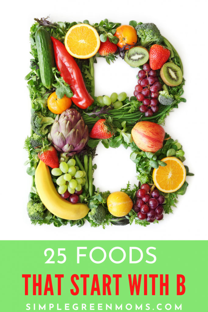 foods that start with B