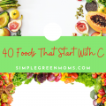 Foods that begin with C